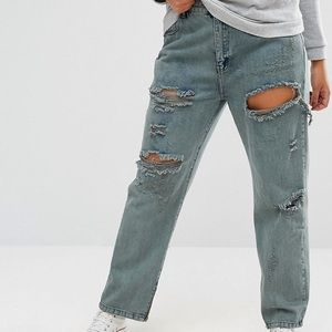 Alice & You Rip and Repair Boyfriend Jeans
